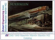 EE 1949 Marklin Catalog D49 E $ in LikeNew Condition