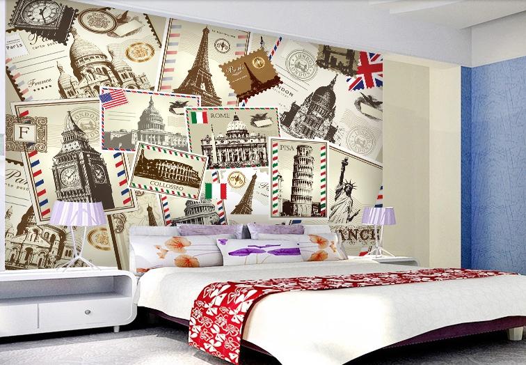 3D Welt Sehenswürdigkeiten 67 Tapete Tapeten Mauer Foto Familie Wandgemälde