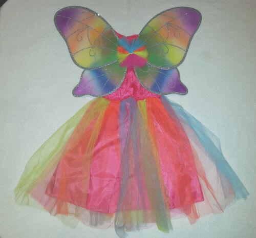 Farfalla colori-ALA Ragazze unicorno-Costume ARCOBALENO 98-104-116-128