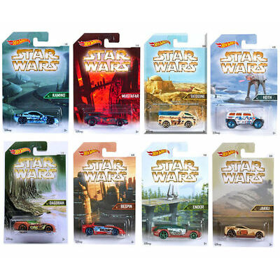 Hot Wheels Star Wars Planet Series  Set  in 1:64   8 ´ er Set
