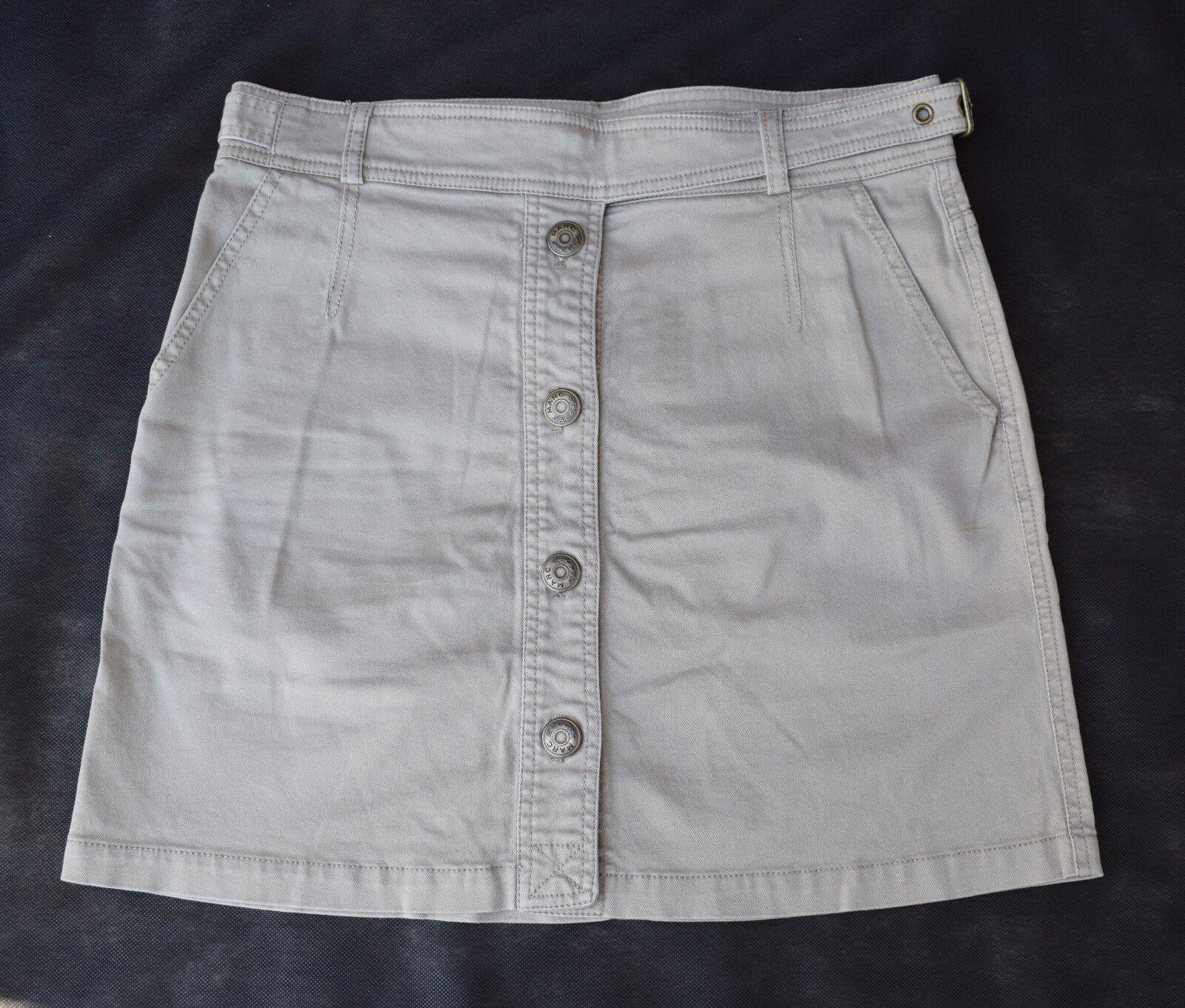 MARC JACOBS Size 4 Button-Front Designer Skirt  31  Waist x 16  Length