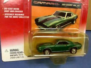 JOHNNY LIGHTNING 1969 CAMARO z28 green 35th Ann  CHEVY 1/64 JL
