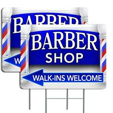 Barber Shop Arrow 16x24 Inch Sign Two Pack Double Sided Made In The Usa