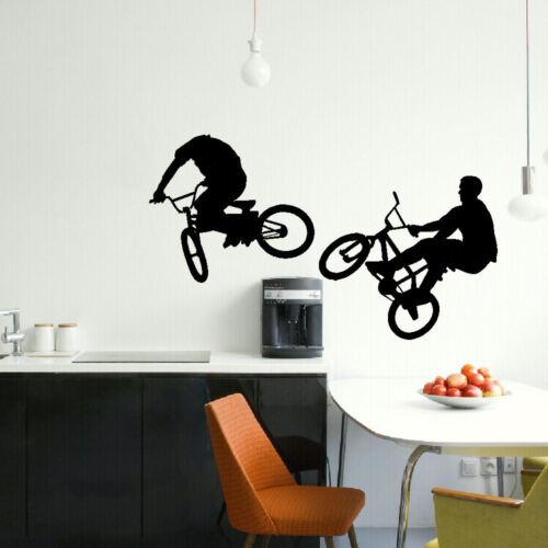LARGE BMX BIKE CHILDRENS BEDROOM WALL MURAL GIANT GRAPHIC STICKER MATT VINYL
