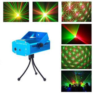 Mini r g projecteur laser de no l l disco dj lumiere eclairage xmas party show ebay for Projecteur laser lumiere noel