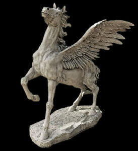 Image Is Loading Pegasus Winged Horse Garden Sculpture Statue