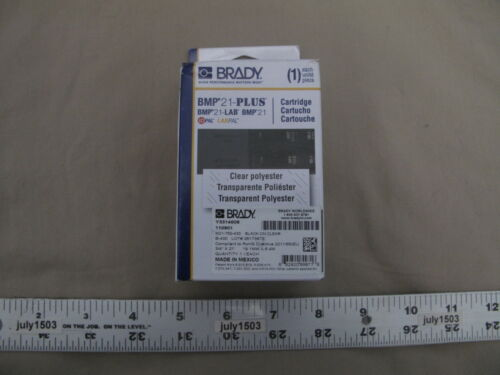 "3 NEW Brady Label Cartridge M21-750-430 Black//Clear Polyester 3//4/"" x 21/' BMP21"
