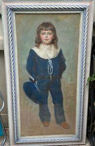 Jules-alexandre-Grun-1868-1938-Portrait-de-l-039-enfant-Robert-1897-Pastel