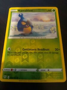 008//189 Karrablast Common Reverse Holo Darkness Ablaze Pokemon Card