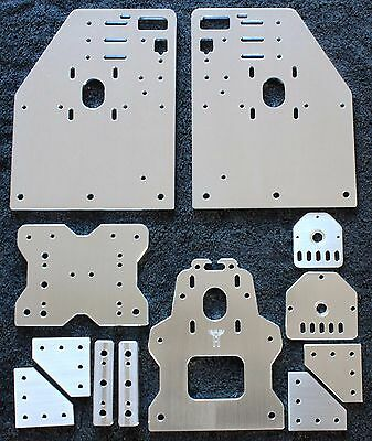 OX CNC Gantry Plates, Z plates, Spacers, 5-hole joiners (Seen at Openbuilds)