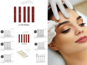 Microblading-Permanent-Needles-Nadel-12-Flat-10-Stueck