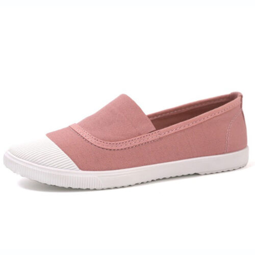 Women Flats Canvas Shoes Sport Outdoor Lace Up Casual Walking Board Sneakers CA