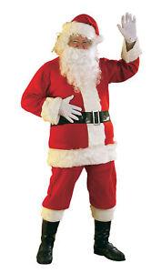 Promotional Flannel Santa Suit Adult Costume Size XXXL NEW Christmas Wig