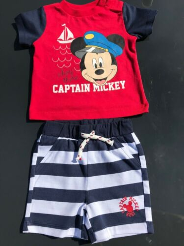 Disney Mickey Mouse Paw Patrol Jungen Outfit Set Bio-Baumwolle 2 teilig Baby
