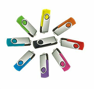 10WHOLESALE 2GB Swivel USB 2.0 Flash Drive Memory Stick JOBLOT LIFETIME WARRANTY