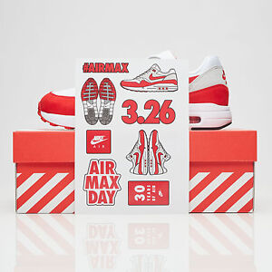 eb3642bc6a6 Nike Air Max 1 Ultra 2.0 RED size 11.5. 908091-100. Red Grey White ...