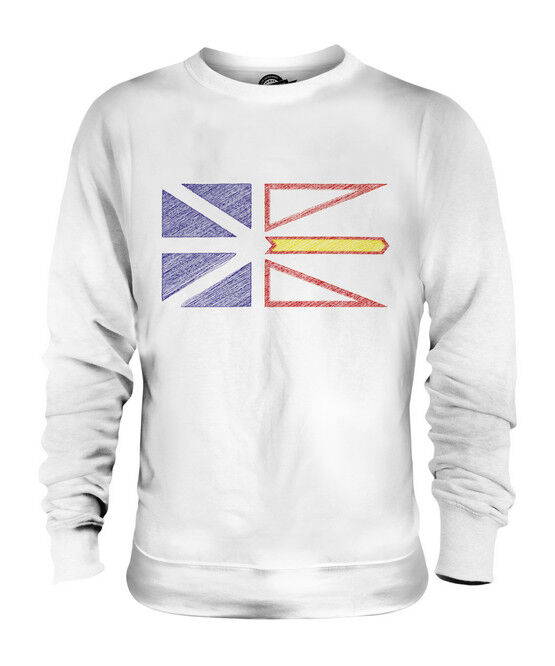 NEWFOUNDLAND AND LABRADOR STATE SCRIBBLE FLAG UNISEX SWEATER  TOP GIFT SHIRT