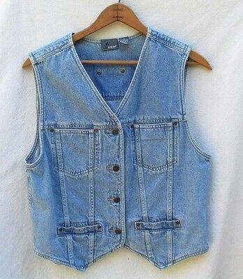 Liz Claiborne Lizwear Vintage Blue Denim Jean Vest Top Women M