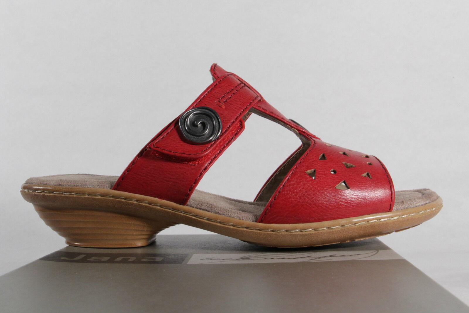 jana mesdames pantoufles sandales Rouge Rouge Rouge  nouveau 7285b8