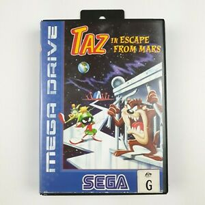 Taz-in-Escape-From-Mars-Looney-Tunes-Sega-Mega-Drive-Game-Missing-Manual