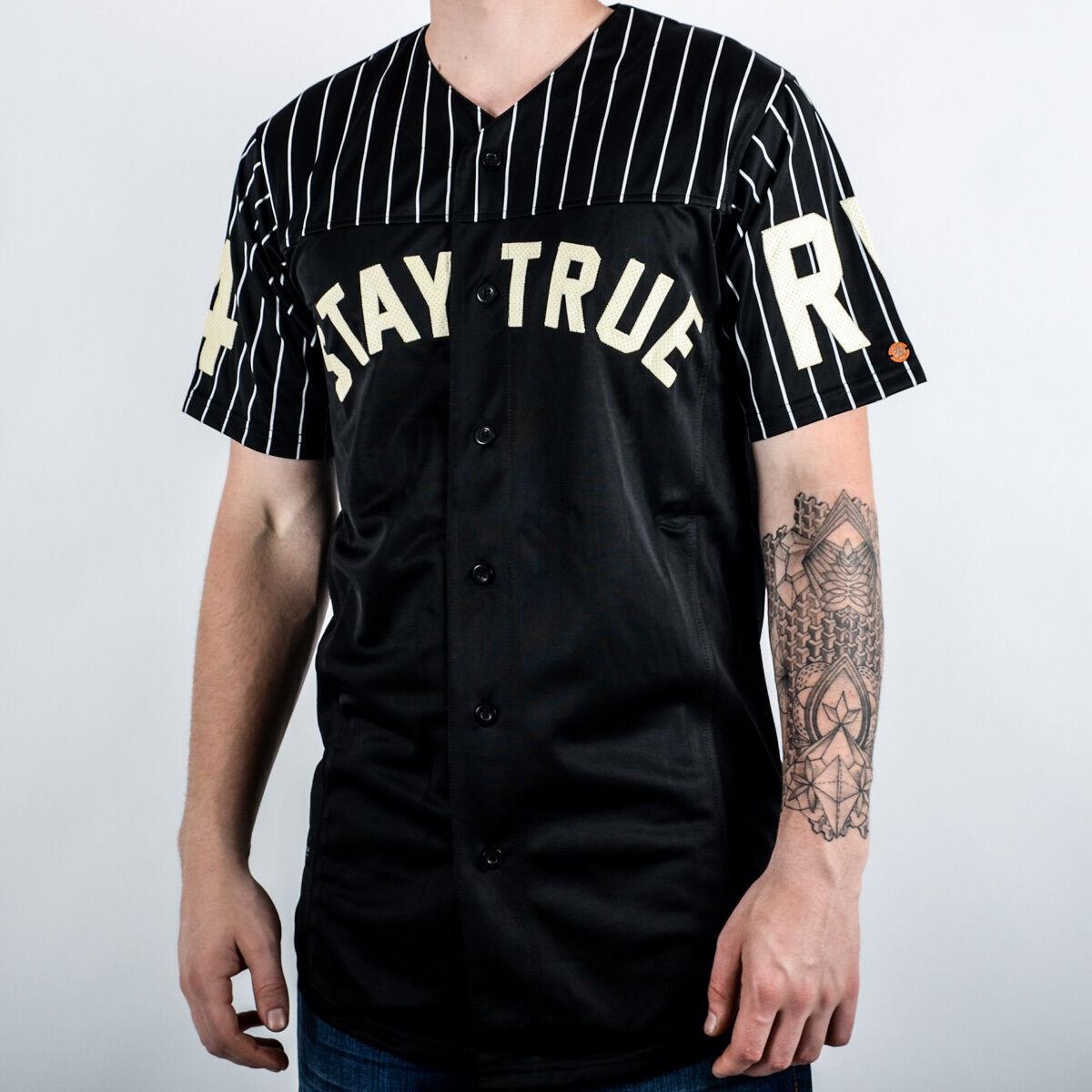 Rocawear Stay True Injektion Baseballhemd Neu Herren R1603K370-100 Schwarz Weiß