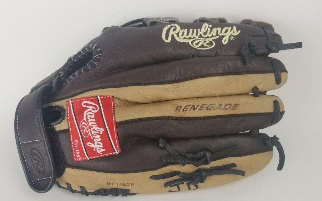 "Rawlings RENEGADE Pelle Shell 13"" Baseball Glove R130 Thrower Left Hand Thrower R130 ECBE29 73ddd4"