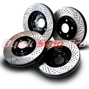 FULL KIT POWERSPORT DRILL//SLOT /& PADS-Ford MUSTANG 05-10 V6-4.0L Brake Rotors