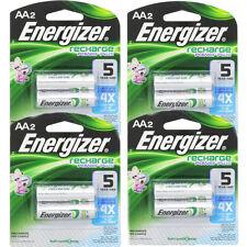 4 Pack Energizer Rechargeable Power Plus AA 2300 mAh Batterie 2 Ea = 8 Batteries
