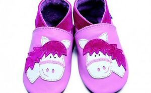 Inch Blue Baby Shoes - Horse Design (0