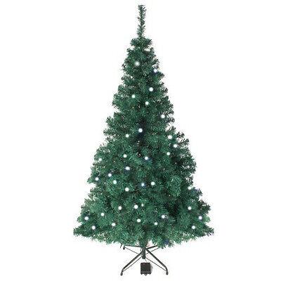 6ft Green Artificial Pre-Lit Battery Christmas Xmas Tree White LED Lights 180cm