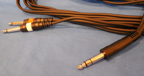 NEW   BLACK   PARKER 10 FOOT STEREO GUITAR CORD    FOR GUITAR AND AMP