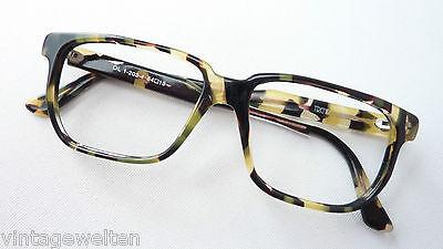 FäHig Brille Leomuster Männer Gerade Form Auffällige Hornoptik Acetatgestell Grösse M Reichhaltiges Angebot Und Schnelle Lieferung