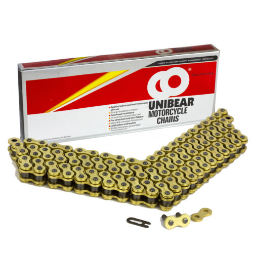 520 Gold Heavy Duty Motorcycle Chain 106 Links with 1 Connecting Link