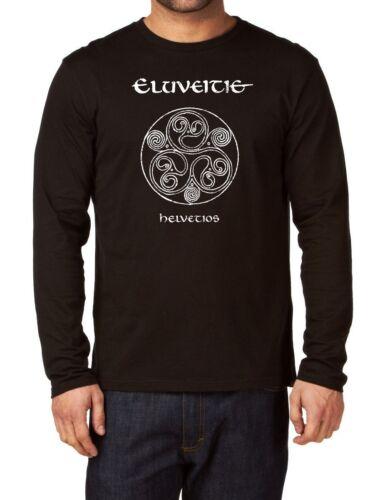 Eluveitie Helvetios Long Sleeve Herren T-shirt Rock Band Langarm Shirt