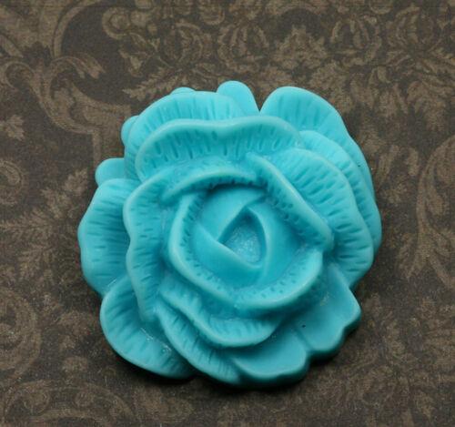 1x XL Resin Cabochons Blumen zum Kleben Basteln Schmuck DIY Farbwahl 45mm