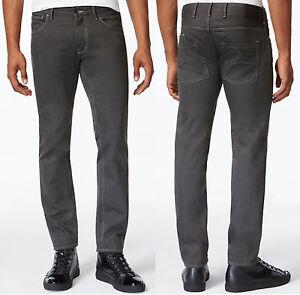 adc4fd84 NWT Armani Jeans J28 Slim-Fit Gray Wash Six-Pocket Style Twill Jeans ...