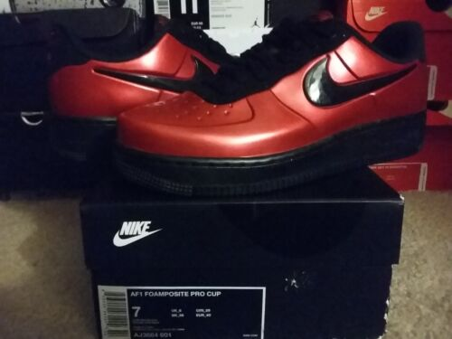Nike Air Force One 1 Foamposite Foam Pro Cup Low Gym Red Black Bred x AJ3664 601