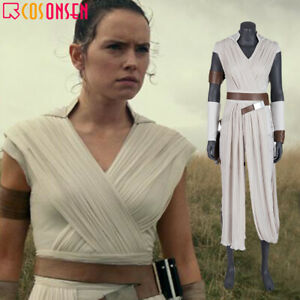 Rey Costume Star Wars The Rise Of Skywalker Cosplay Halloween Outfit Ebay