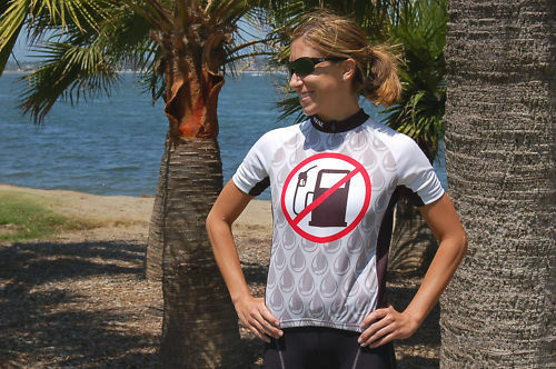 No Gas Pumps  Brand-New Funny Women's Bicycle Jersey