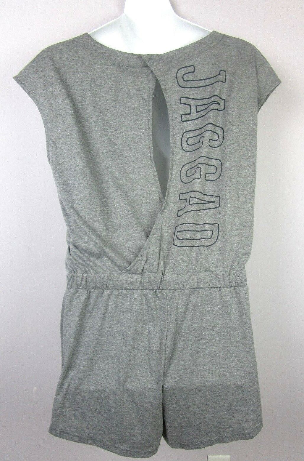 Jaggad Womens Shorts Romper Jumper Grey Marle Bento Playsuit Athletic Cycling XL