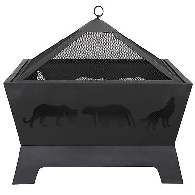Portable Courtyard Fire Bowl Barrone Burning Fire Pit with ...