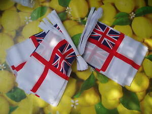 White-Ensign-Bunting-9m-WW2-Royal-Navy-Boat-Ship-Naval-Military-Events-Veterans