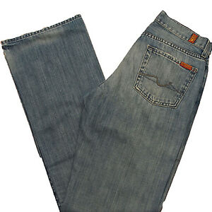 7-For-All-Mankind-Mens-Jeans-Relaxed-Fit-524u-Wisker-Wash-Jean-T521524u-28-x-33