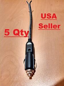 5 qty 12v male car cigarette lighter socket plug. Black Bedroom Furniture Sets. Home Design Ideas