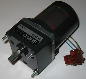 Japan-Servo-Induction-Motor-w-Capacitor-115-V-20-Watts-285-RPM-1-6-Gear