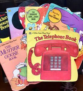 Golden-Shape-Books-Lot-of-7-Raggedy-Ann-Road-Runner-Disney-Precious-Moments