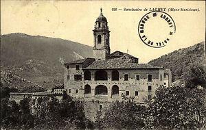 Laghet-Frankreich-France-Carte-Postale-CPA-alte-AK-1913-Sanctuaire-Wallfahrt