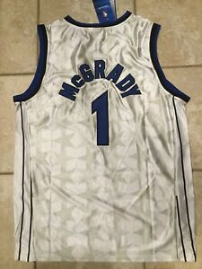 separation shoes 339d9 34d58 Details about Throwback Tracy McGrady TMAC Orlando Magic White Jersey L NWT