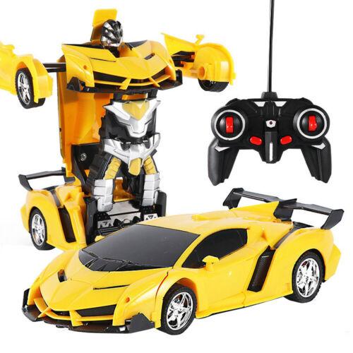 2in1 Transformer Auto Rennauto Roboter mit Fernbedienung Motor Tolle Spielzeug