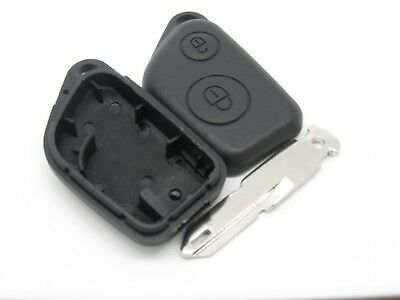 Peugeot 405 105 205 106 306 309 206 two button remote key fob CASE and blade